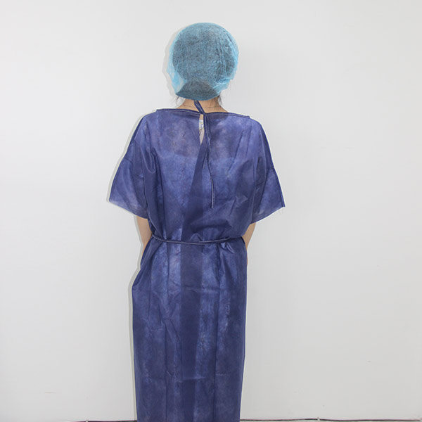 Disposable non woven patient gown